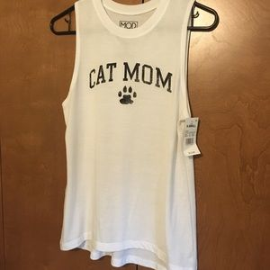 NEW Cat Mom tank top muscle tee